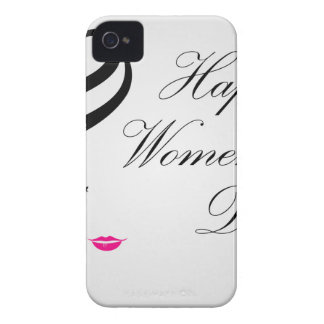 Happy womens day card with face of a lady iPhone 4 case