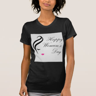 Happy womens day card with face of a lady t shirt