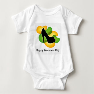 Happy womens day march 8 baby bodysuit