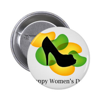 Happy womens day march 8 pinback button