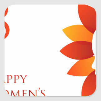 Happy womens day march 8 square sticker