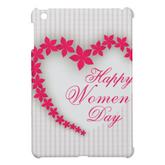 Happy women's day with flower heart iPad mini cases