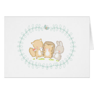 Happy Woodlands Friends Card