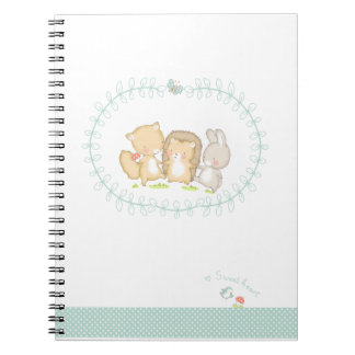 Happy Woodlands Friends Spiral Notebook