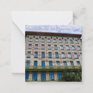 Happy World Art Nouveau Day! Note Card