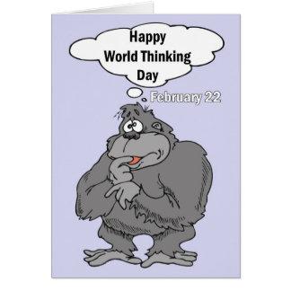 Happy World Thinking Day February 22 Greeting Card