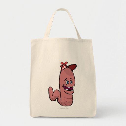 Happy Worm Canvas Bags