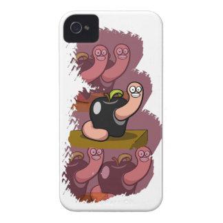 Happy Worm in Black Apple iPhone 4 Case-Mate Case