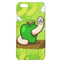 Happy Worm in Green Apple iPhone 5C Cases