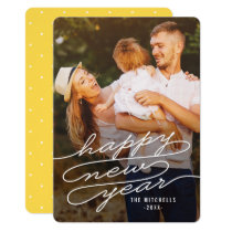 Happy Writing EDITABLE COLOR New Year Cards