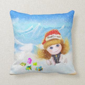 Happy x-mas cartoon doll Pillow