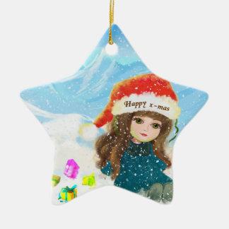 Happy x-mas doll Ornament