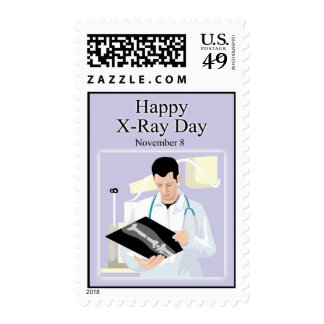 Happy X-Ray Day November 8 Postage