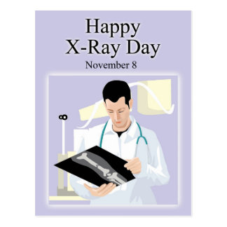 Happy X-Ray Day November 8 Postcard