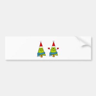 Happy XMas Trees Bumper Sticker