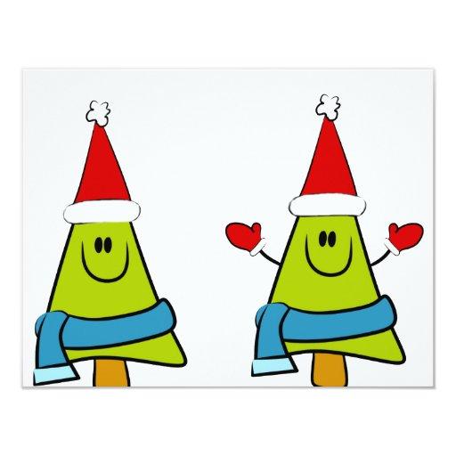 Happy XMas Trees Invitations