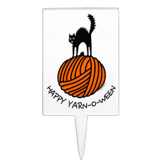 Happy Yarn-O-Ween! Cake Toppers