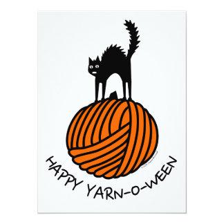 Happy Yarn-O-Ween! 5.5x7.5 Paper Invitation Card