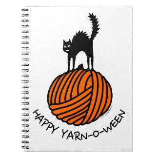 Happy Yarn-O-Ween! Spiral Notebook