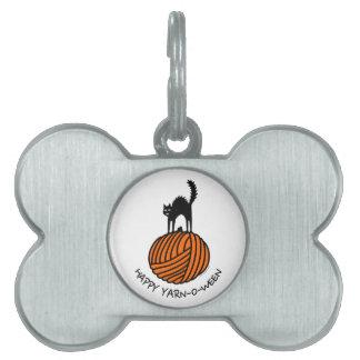 Happy Yarn-O-Ween! Pet Name Tags