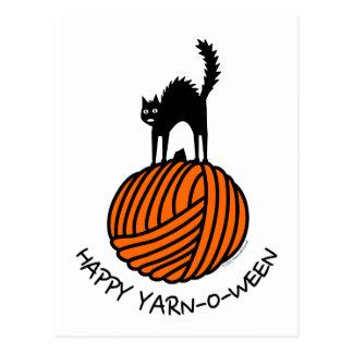 Happy Yarn-O-Ween! Postcard