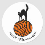 Happy Yarn-O-Ween! Sticker