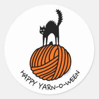 Happy Yarn-O-Ween! Classic Round Sticker