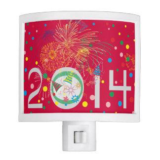 Happy year night lights
