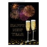 Happy Year New - Champagne Tarjeta De Felicitación