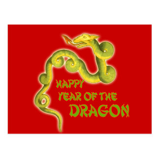 Happy Year of the Dragon Gifts Post Card