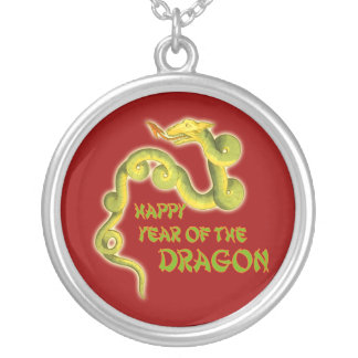 Happy Year of the Dragon Gifts Round Pendant Necklace