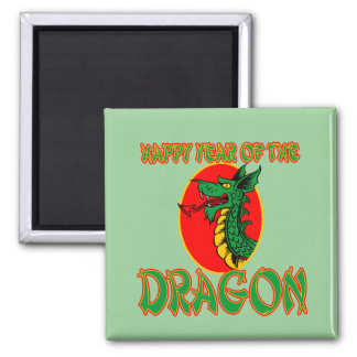 Happy Year of the Dragon T-shirts, Mugs, Bags 2 Inch Square Magnet
