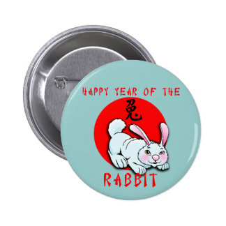 Happy Year of the Rabbit Cards, Apparel, Gifts Pin