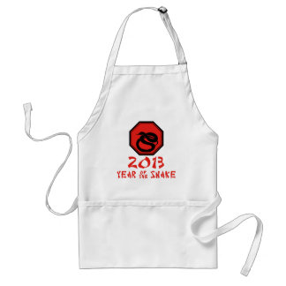 Happy Year of the Snake Chinese Calendar Adult Apron