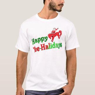 Happy YEE-HAlidays basic tee