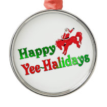 Happy YEE-HAlidays deluxe ornament