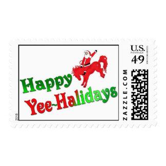 Happy Yee~Halidays postage stamps