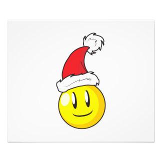Happy Yellow Billiard Ball Christmas Red Santa Hat Photo Art