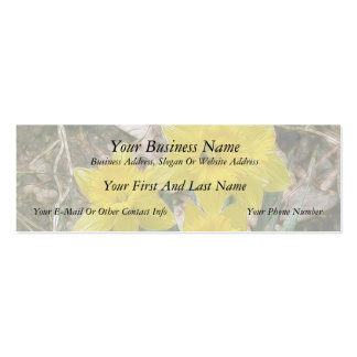 Happy Yellow Daffodils Double-Sided Mini Business Cards (Pack Of 20)