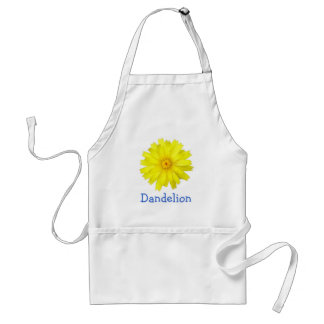 Happy Yellow Dandelion image Adult Apron