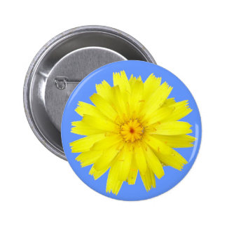 Happy Yellow Dandelion image Button
