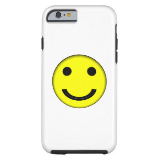Happy Yellow Emoji Smiley Face White Tough iPhone 6 Case