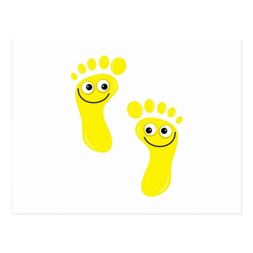 Happy Yellow Feet Post Card