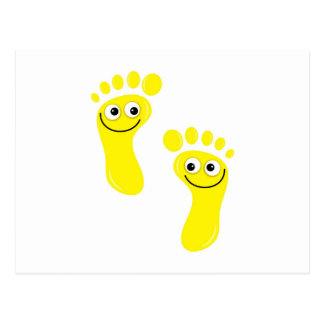 Happy Yellow Feet Postcard