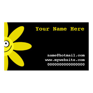 Happy Yellow Flower Business Card