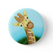 Happy Yellow Giraffe Pinback Button