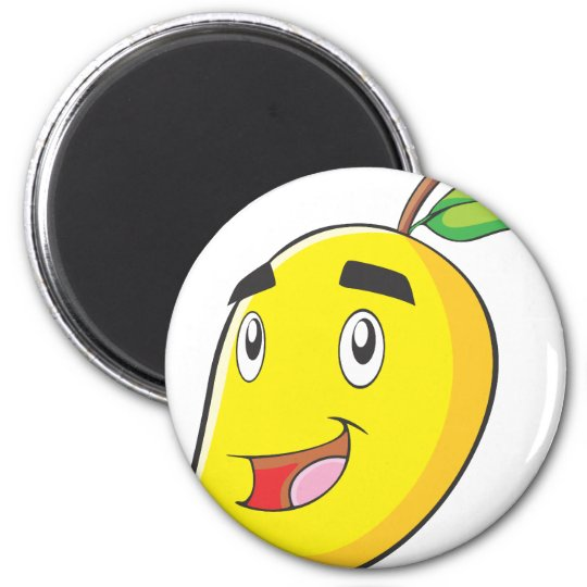 Happy Yellow Mango Fruit Magnet