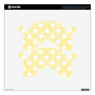Happy ,yellow,polka dot,white,girly,country,chic PS3 controller skin