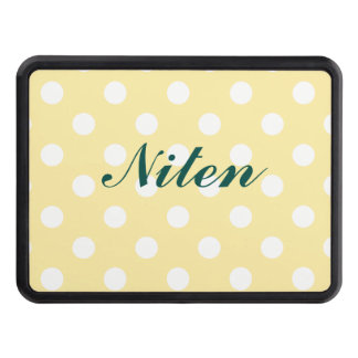 Happy ,yellow,polka dot,white,girly,country,chic tow hitch covers