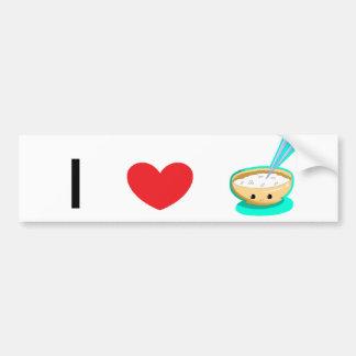 Happy Yellow Rice Bowl Bumper Sticker